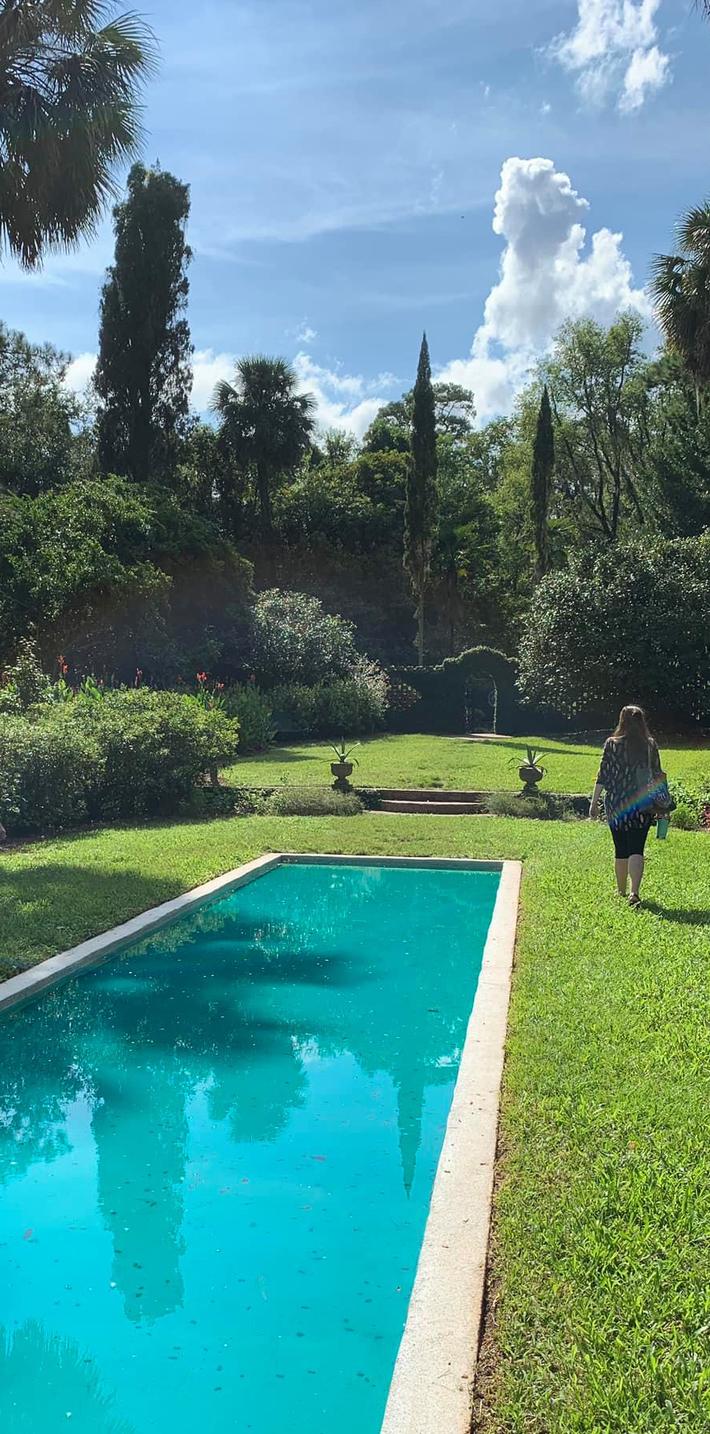 Alina in garden